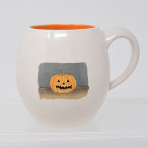 Rae Dunn Happy Halloween Pumpkin Jack OLantern Mug